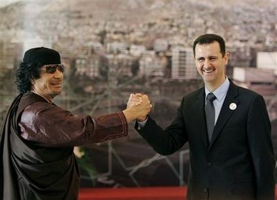 Gaddafi Assad