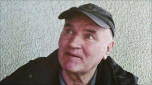 Mladic after being arrested