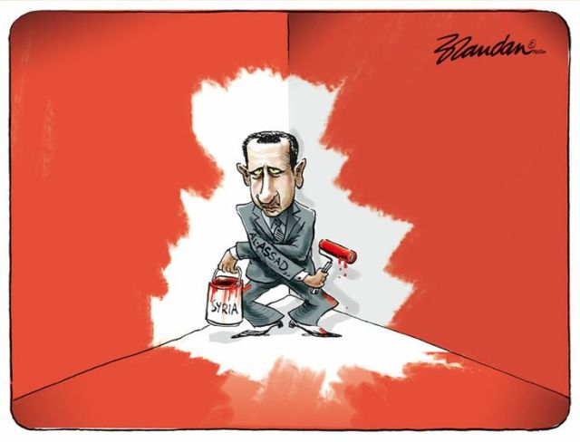 Syria cartoon, Assad
