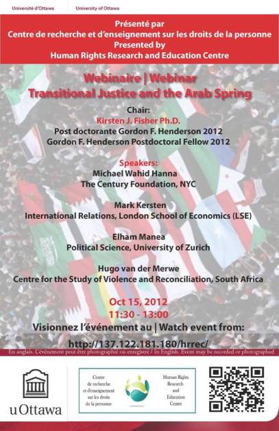 Transitional justice Arab Spring