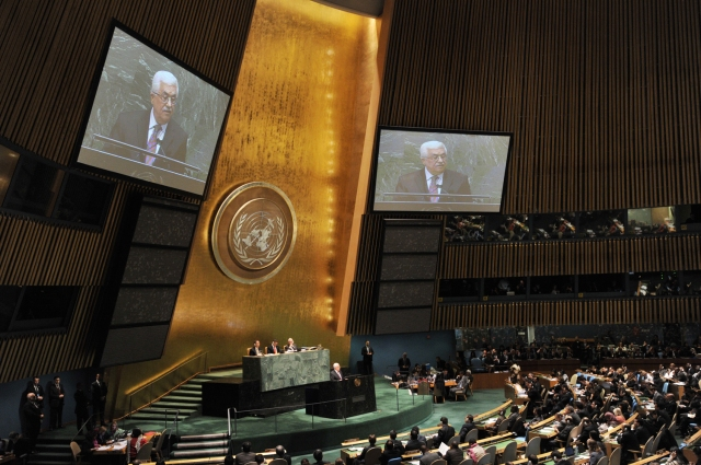 Mahmoud Abbas at the UNGA.
