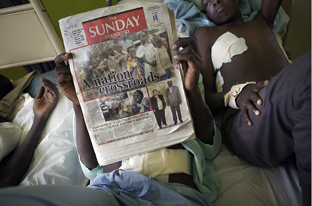 (Victims of the 2007 post-election violence. Photo: Jonas Bendiksen)