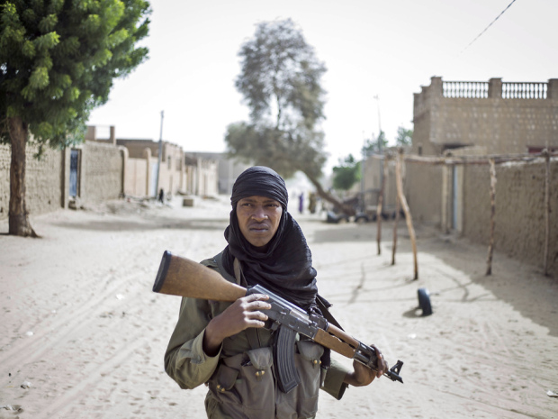 A Malian soldier on patrol in Timbuktu (Photo: Fred Dufour/AFP/Getty Image)