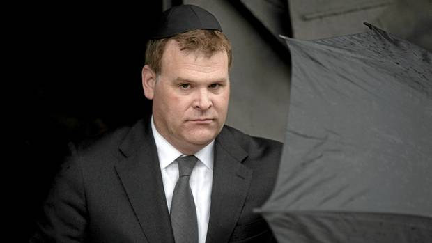 John Baird visiting the Yad Vashem Holocaust memorial in Jerusalem (Sebastian Scheiner/Associated Press/Sebastian Scheiner/Associated Press)