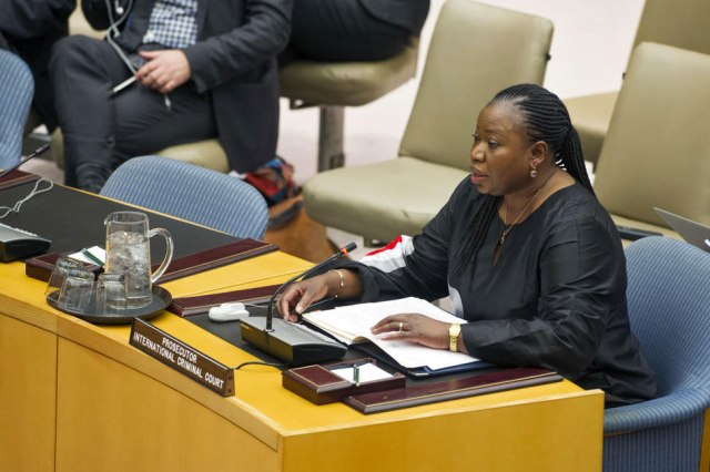Fatou Bensouda speaking at the UN Security Council (Photo: UN)