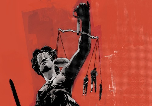 Modern Lady Justice Art
