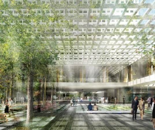 Rendition of the atrium in the ICC's soon-to-be premises.
