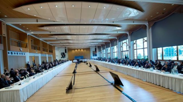 The venue of the Geneva II  peace talks (Photo: PressTV)