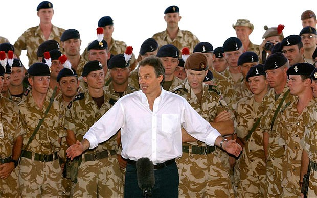 Former UK PM Tony Blair in Iraq (Photo: PA)