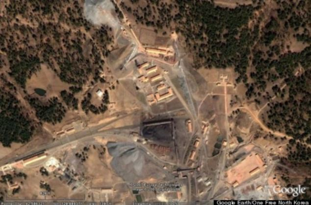Image of an alleged prison camp in North Korea, captured by Google Images