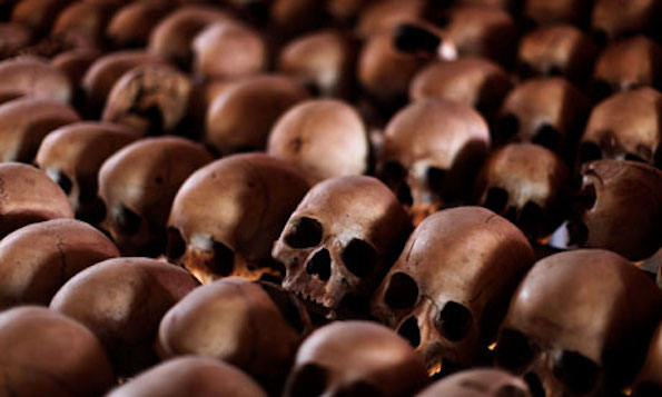 Skulls of victims on display at a Rwandan genocide memorial outside Kigali, Rwanda.  (Photo:  Finbarr O'Reilly/Reuters)