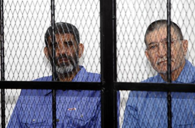 Abdullah al-Senussi during trial proceedings in Tripoli on April 14 2014 (Photo: Ismail Zitouny / Reuters)