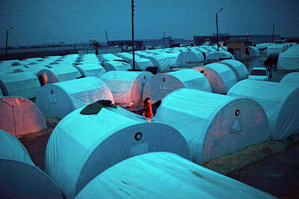 The Azaz refugee camp in Syria, in 2012 (Photo: Manu Brabo / AP)