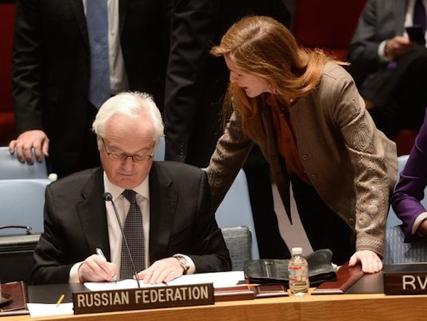Samantha Power and Vitaly Churkin