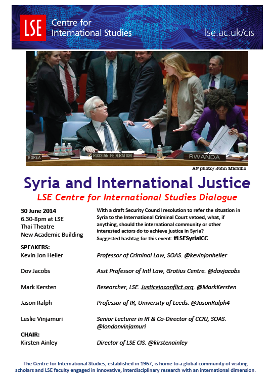 Syria and International Justice