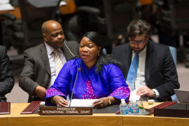 ICC Prosecutor Fatou Bensouda reports to the UN Security Council in November 2013 (Photo: UN / Eskinder Debebe)