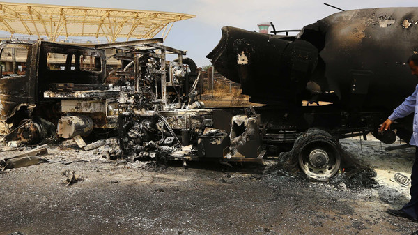 Scenes of destruction at Tripoli Airport (Photo: AFP)