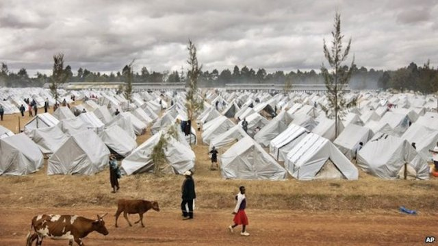 An IDP camp in Kenya (Photo: AP)