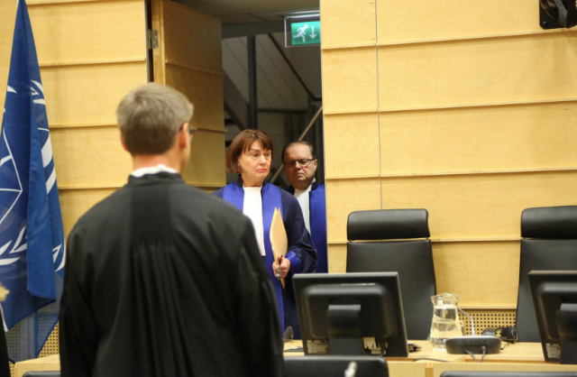 Judge Anita Ušacka enters the Appeal's Chamber at the ICC (Photo: ICC)