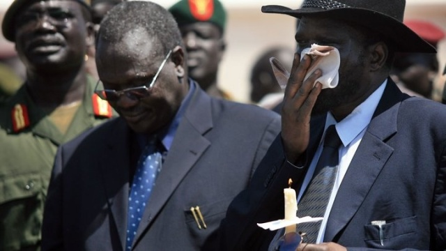 Riek Machar (left) and Salva Kiir (Photo: France 24)