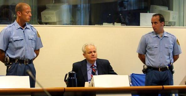 Slobodan Milosevic at the ICTY (Photo: ICTY)