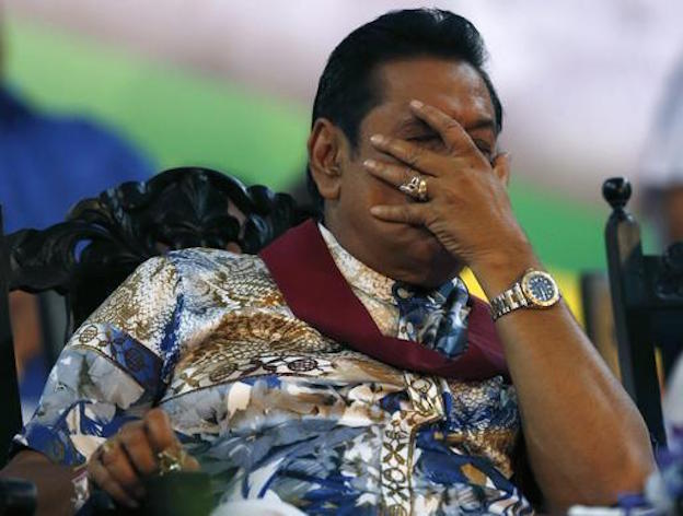 Ousted: Rajapaska (Photo: Reuters)