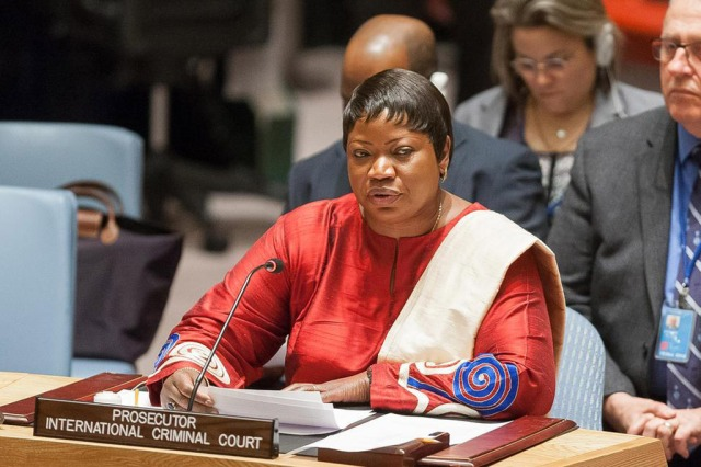 ICC Chief Prosecutor Fatou Bensouda speaking at the UN Security Council (Photo: Yubi Hoffmann / UN)