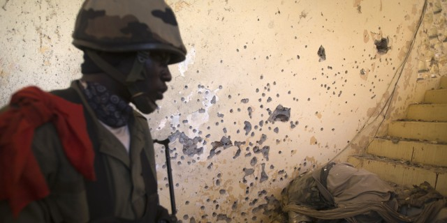 A Malian soldier in Gao (Photo: Joel Saget / AFP / Getty Images)