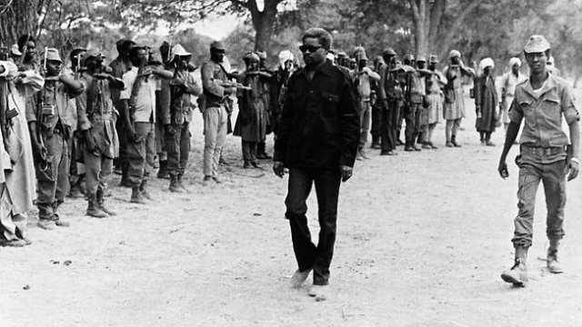 Habré inspecting some of his troops in 1980 (Photo: AFP)