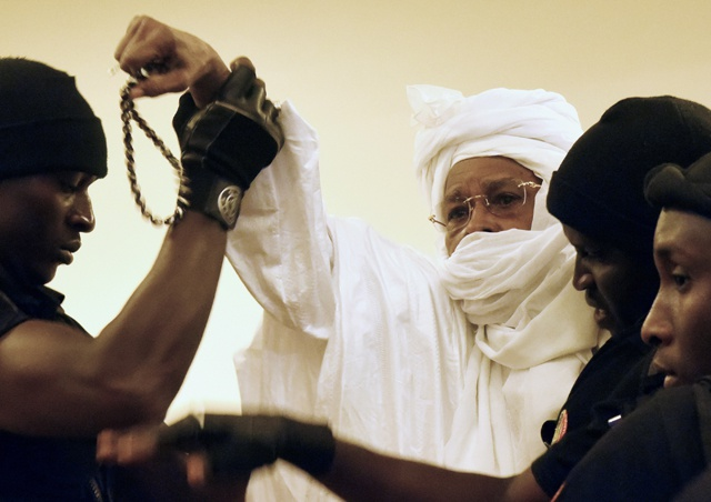 Hissène Habré during his trial earlier this week (Photo: AFP / Seyllou)