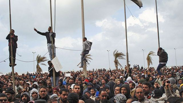 A demonstration / gathering in Benghazi in 2011 (Photo: AP)