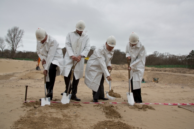 Long before the ICC had a groundbreaking ceremony for its new premises, Sam Muller and Phakiso Mochochoko had to break new ground in opening the first-ever permanent international criminal court (Photo: ICC Permanent Premises)