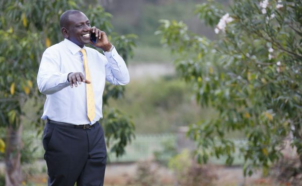 William Ruto received a string of congratulatory phone calls after the ICC Judges made their ruling (Photo: DPPS)