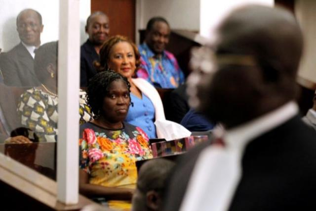 Simone Gbagbo during trial proceedings in Abidjan in 2014 (Photo: Luc Gnago / Reuters)