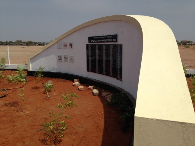 Wagalla Massacre Monument, from website of the Kenya National Commission on Human Rights.