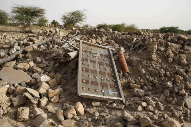 The rubble of a destroyed mausoleum in Timbuktu, Mali (Photo: Joe Penney / Reuters)