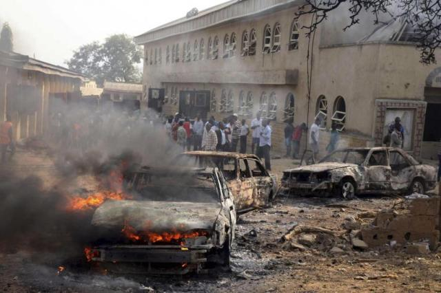 A car burns following an attack by Boko Haram in Madalla, Nigeria (Photo: Reuters)